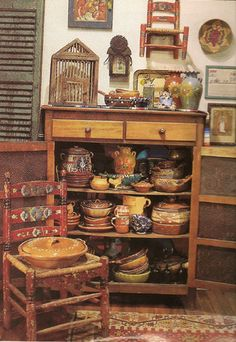Mexican Pottery Galore! #Mexico #Mexican pottery #vintage Mexican  http://www.lafuente.com/Mexican-Decor/Talavera-Pottery/