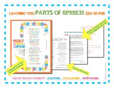 This resource explores the eight parts of speech in a creative, poetic way. Its main purpose is to be printable poster/handout that students can examine to see the parts of speech in action.