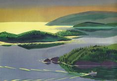 Best known for his children's book illustrations, Robert McCloskey was also a talented fine artist.