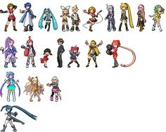 Vocaloid Pokemon Sprites by CherushiMetsumari.deviantart.com    maybe to make out of fusebeads