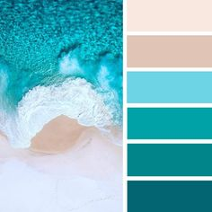 100 color inspiration : Blush + taupe + turquoise color palette #color #colorpalette