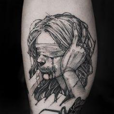 Pin on tattoos Dope Tattoos, Creepy Tattoos, Bild Tattoos, Badass Tattoos, Black Tattoos, Body Art Tattoos, Sleeve Tattoos, Tatoos, Horror Tattoos