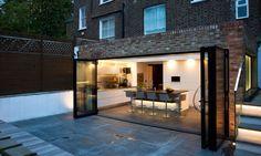 Extension, bi-folds plus patio