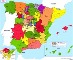 Administrative division (intendencias) of Spain, [[MORE]]Intendencias - Intendants were introduced into the Spanish Empire during the eighteenth-century Bourbon Reforms. Charles Quint, Map Of Spain, Spain History, Bible Mapping, Geography Map, Iberian Peninsula, Spanish Art, Historical Maps, Flags Of The World