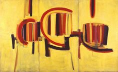 Sir Terry Frost 'Yellow Triptych', 1957–9 © The estate of Sir Terry Frost