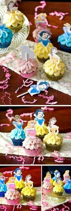 How to Make Disney Princess Cupcakes