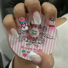 Cute Nail Art, Beautiful Nail Art, Cute Nails, Pretty Nails, Hair And Nails, My Nails, Dream Catcher Nails, Luxury Nails, French Tip Nails
