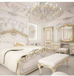 Royal bedroom - Gold Bedroom Ideas Glamorous Ideas You'll Adore Royal Bedroom, Gold Bedroom, Bedroom Sets, Modern Bedroom, Bedroom Decor, Master Bedroom, Contemporary Bedroom, Master Suite, Bedroom Classic