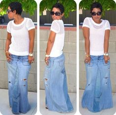 Love The Skirt Denim Fashion