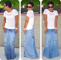 Love The Skirt  Denim Fashion