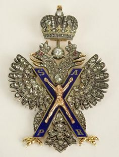 """Bid Online 6/3 for this #Amazing Antique Russian Order of St Andrew Sash Badge  