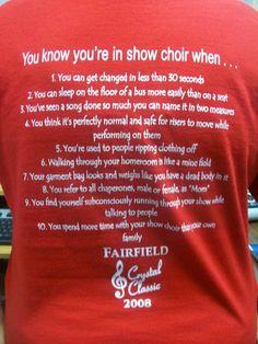 oh the good ole show choir days.