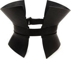 Gareth Pugh Leather Corset Belt in Black