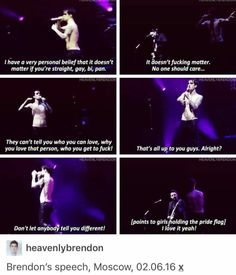 Brendon's speech before Girls/Girls/Boys