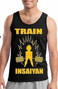 24d40b2f $5 DBZ Train Insaiyan Tank & T shirt Super Saiyan Gym Dragon Ball Z Tees NEW