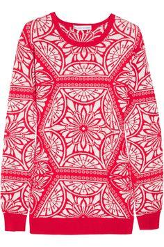 Jonathan Saunders  Fair Isle knitted cotton sweater