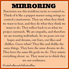narcissist is mirroring you Narcissistic People, Narcissistic Behavior, Narcissistic Abuse Recovery, Narcissistic Sociopath, Narcissistic Personality Disorder, Narcissistic Husband, Abusive Relationship, Toxic Relationships, Dysfunctional Relationships