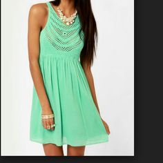 Cute mint dress Very cute and flirty. Perfect for summer. Size S. Only wore it once. Dresses