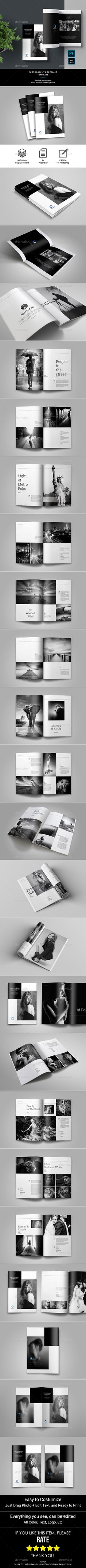 224 best portfolio template images on pinterest in 2018 brochure