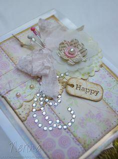Shabby Softness Deet by Nerina's Cards, via Flickr - beautiful vintage/shabby chic feel