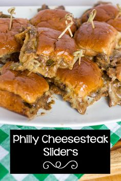 Philly Cheesesteak Sliders #SundaySupper