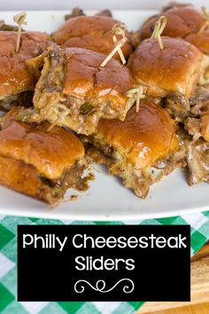 Philly Cheesesteak Sliders #SundaySupper