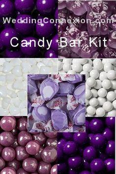 Budget-friendly purple candy buffet candy kit.