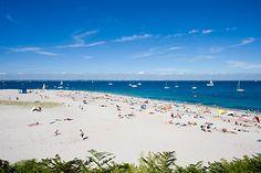 Plage des Grands-Sables et Tahiti Beach, île de Groix Tahiti Beach, Images, Water, Beaches, Travel, Outdoor, Nice Beach, Ile De France, Stone