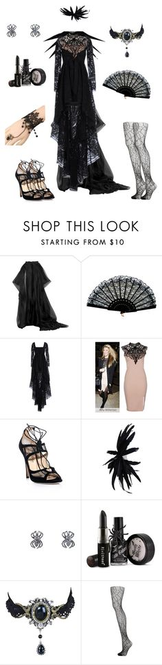 """""""Arachne-Soul Eater"""" by conquistadorofsorts ❤ liked on Polyvore featuring Hervé Léger, Emilio Pucci, Duccio Venturi, Ann Demeulemeester and Sydney Evan"""