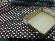 Luxo de Lixo Arte e Criação: Reaproveitamento de caixa com tecido - Feito por mim !