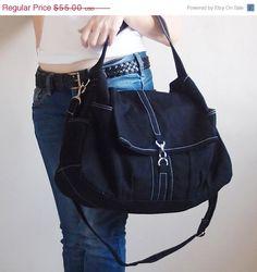 VALENTINE DAY SALE Classic in Black - Shoulder Bag / Hobo / Tote / Messenger / Handbag / Diapers Bag / Hip Bag / School / Women / For Her