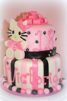 Orange cake and candied fruit - HQ Recipes 18th Birthday Party, Cool Birthday Cakes, Birthday Ideas, 18 Birthday Party Decorations, Hello Kitty Cake, Orange Recipes, Novelty Cakes, Cake Tins, Custom Cakes
