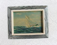 Nautical Wall Art, Cream Paint, Vintage Frames, Banks, Seaside, Framed Art, Michigan, Coastal, Neutral