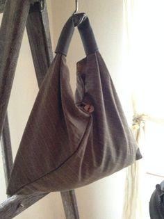 Slouchy Hobo Triangle Bag by GoAti on Etsy Triangle Bag, Origami Bag, Latest Bags, Purses, Shopping, Etsy, Style, Fashion, Handbags