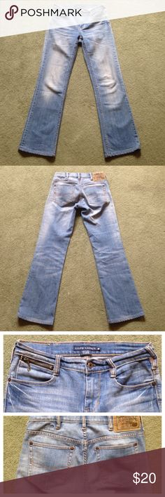 "Ralph Lauren Size 26 Blue Jeans Tribeca Fit Excellent condition; Across waist - 14.25""; Front rise - 8.5""; Inseam - 29""; Leg opening - 8""; Blue label Ralph Lauren Jeans Straight Leg"
