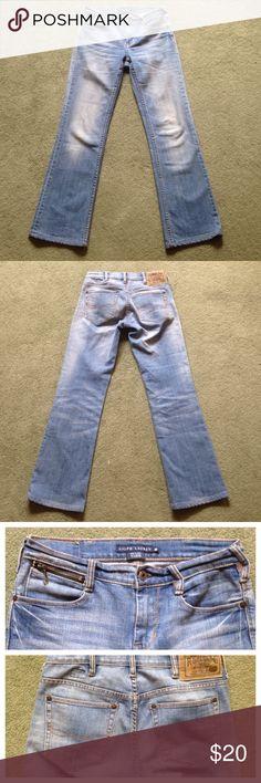 """Ralph Lauren Size 26 Blue Jeans Tribeca Fit Excellent condition; Across waist - 14.25""""; Front rise - 8.5""""; Inseam - 29""""; Leg opening - 8""""; Blue label Ralph Lauren Jeans Straight Leg"""