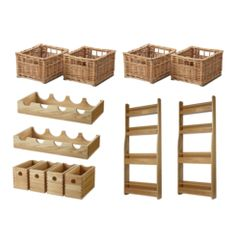 Wooden Larder Accessory Set | Supplier - LDL Kitchen and Furniture Fittings…