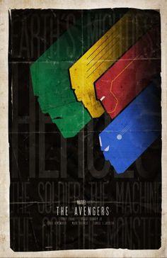 Avengers minimalist movie poster