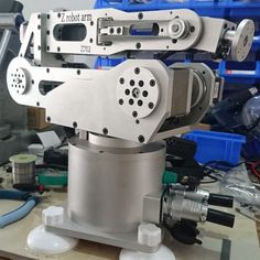 robot arm robot six-degree-of-freedom harmonic deceleration step system desktop industry robot Mechanical Design, Mechanical Engineering, Bras Robot, Arduino, Delta Robot, Powered Exoskeleton, Farming Technology, Robotic Welding, Degrees Of Freedom