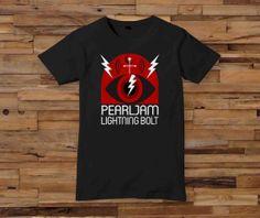 pearl jam black White Black Dsign tshirt men SMLXL by oblongoblong, $17.00