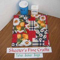 Daisies and Lemons Tater Baker Bag for Microwave