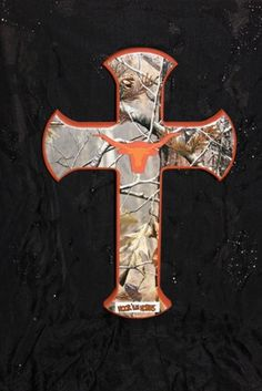 Items Similar To Texas Longhorn And Realtree Camo Cross On Etsy
