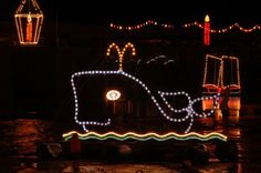 The famous Mousehole Christmas lights