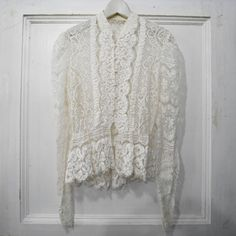 Vintage lace blouse...would be cute with jeans