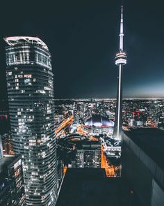 Toronto Toronto City, Downtown Toronto, Toronto Canada, City Landscape, Urban Landscape, Blue Neon Lights, New Condo, City Aesthetic, Summer Photos