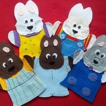 From Lisa Puppet Maker on Storenvy. Felt Puppets, Hand Puppets, Finger Puppets, Custom Puppets, Puppets For Sale, Max And Ruby, Puppet Show, Flannel Boards, Exercise For Kids