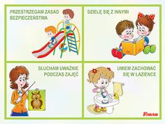 """MY LIFE, MY PASSION, MY CHOICE..."": KODEKS PRZEDSZKOLAKA - ZNAMY ZASADY PRAWIDŁOWEGO ZACHOWANIA! :) My Passion, Kindergarten, Preschool, How To Plan, Education, Comics, Therapy, Projects, My Crush"
