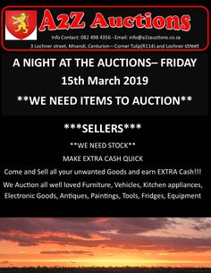 We need Items to sell! Due to our after Auctions sales we need to replenish Items