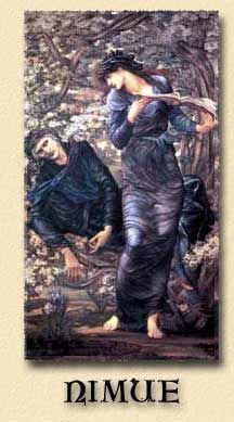 BEGUILING OF MERLIN BY MORGAN LE FEY LADY OF THE LAKE PAINTING ART CANVAS PRINT