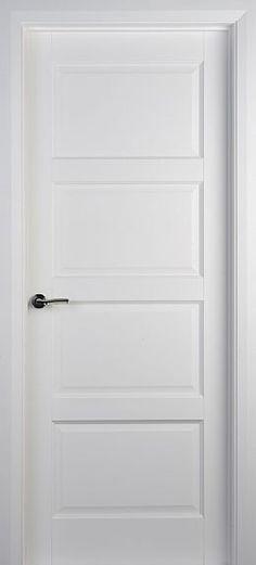 internal & interior doors | White Doors - Solid Pre-Primed Doors | Contemporary 4 Panel (40mm)